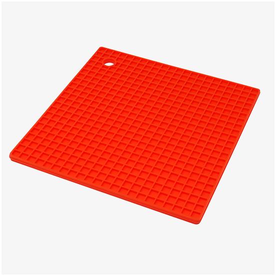 Sottopentola in colori assortiti rosso/grigio