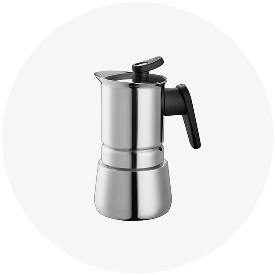 Pedrini 02CF039 10 Cups Espresso Coffee Pot Steel